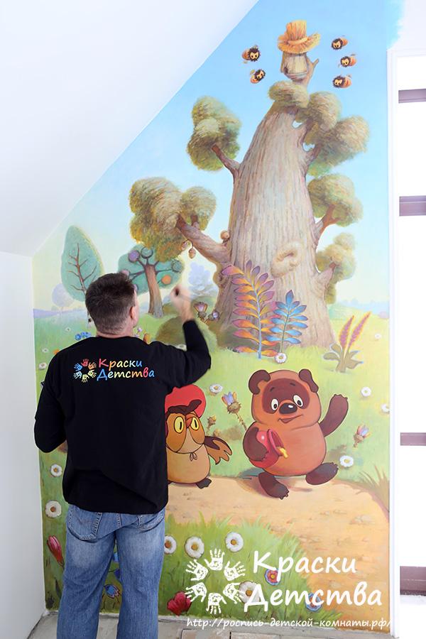 Ремонт детской комнаты в стиле Quot Наши мультфильмы Quot